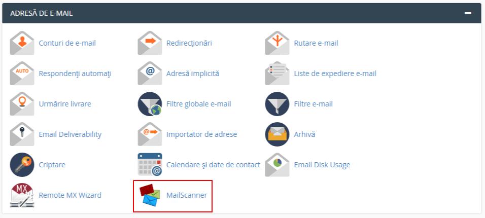 MailScanner in cPanel
