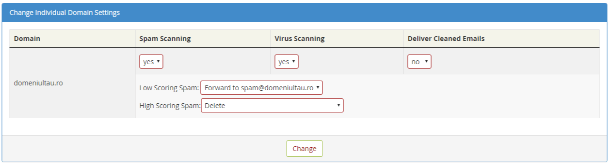 Configurare MailScanner